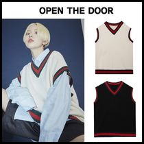 ☆OPEN THE DOOR☆ ベスト school vest (2 color) - UNISEX