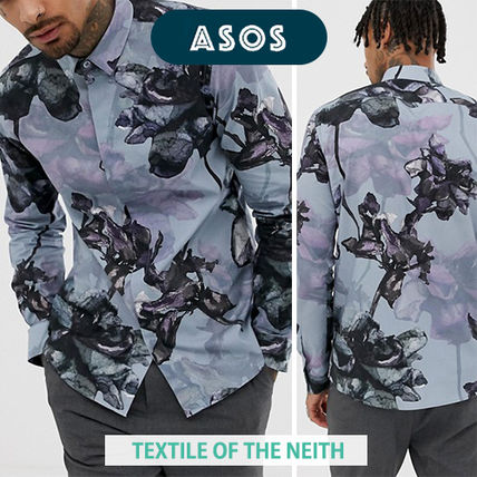 ◆ASOS◆Twisted Tailor花柄*スーパースキニーシャツ