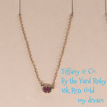 【Tiffany&Co】ルビーColor by the Yard Pendant 18k Rose gold