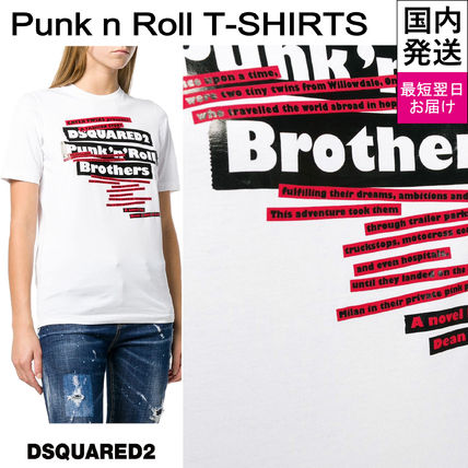 D SQUARED2 Tシャツ・カットソー 【即発送】ディースクエアード ロゴプリント T-シャツ S75GC0985