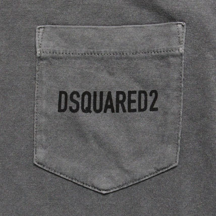 D SQUARED2 Tシャツ・カットソー 【即発送】ディースクエアード ポケット ロゴT-シャツ S74GD0292(16)
