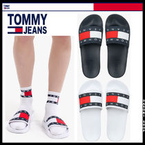 ★TOMMY JEAN★ ナイロン フラッグ スリッパ 2色