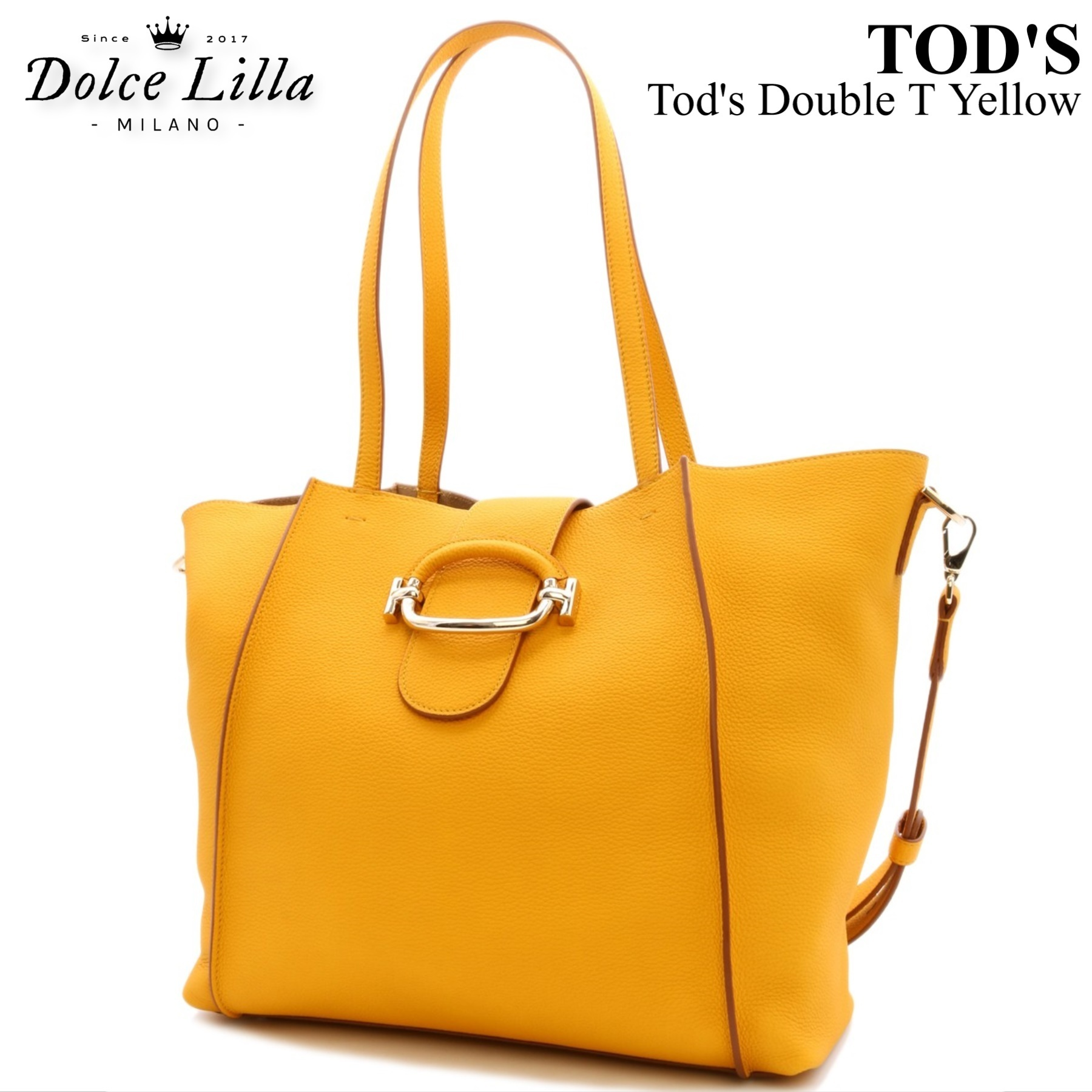 Tod S 2019 Ss Shoulder Bags Double T Yellow Xbwdora9300ucag407