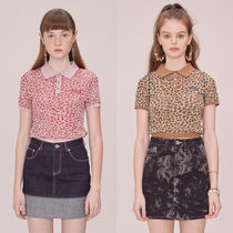 ★SCULPTOR★レオパード ニット Leopard Polo Knit top【全2色】