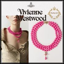 19SS新作◆Vivienne Westwood◆THREE ROWS PEARL チョーカー
