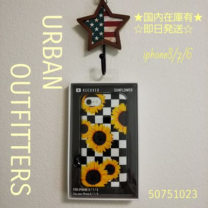 Urban Outfitters スマホケース・テックアクセサリー Urban Outfitters iphone8/7/6 ソフト ひまわり柄 即発 50751023