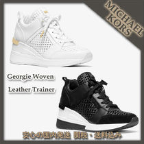 MICHAEL KORS☆Georgie Woven Leather Trainer 関税込