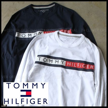 Tommy Hilfiger Tシャツ・カットソー 国内発送・正規品★★TOMMY HILFIGER★★MEN'S LOGO L/S TEE
