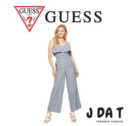 Guess(ゲス)Evis Chambray Linen Jumpsuit〓ジャンプスーツ
