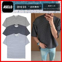 人気【ASCLOエジュクロ】☆Perfect Ponte Striped T-Shirt☆4色