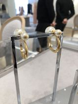"【Dior】19SS新作 ""DIOR TRIBALES"" フープピアス (White&Gold)"