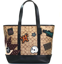 cdb1ade0649e KEITH HARING☆COACH☆WEST TOTE SIGNATURE CANVAS WITH PATCHES