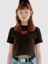 19SS☆HEART CHERRY CROPPED T-SHIRT IH/全3色