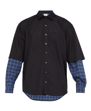 VETEMENTS Layered ghost-print cotton shirt( 送料・関税込)