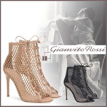 Gianvito Rossi HELENA BOOTIE ネット レースアップ ブーティ