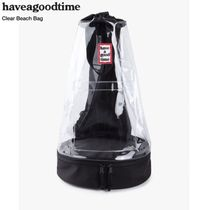 HAVE A GOOD TIME★韓国★PVC Beach Bag - CLEAR ビーチバッグ