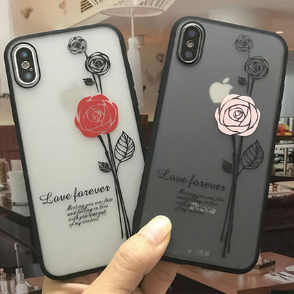 iPhoneXS iPhoneX iPhone8 iPhone7Plus 韓国 おしゃれ 薔薇