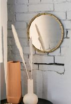 SALE☆限定Urban Outfitters☆Gold Bamboo Round Wall ミラー