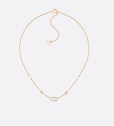 【Dior】2019SS新作 'CLAIR D LUNE' CDロゴ ネックレス (Gold)
