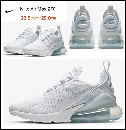 "Nike Air Max 270 ""White//Metallic Silver//White"" Unisex Trainer All Sizes"