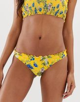 Pimkie bikini bottoms in yellow floral print