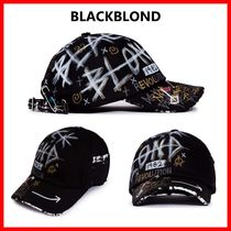 人気☆【BLACKBLOND】☆BBD Half Tweed Monster Graffiti Cap☆
