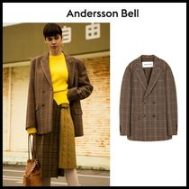 ☆ANDERSSON BELL☆UNISEX ATHENS CHECK DOUBLE BREASTED JACKET