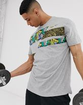 Nike Training Dry t-shirt in grey with tribal print