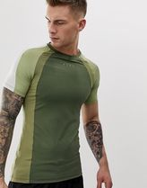 ASOS 4505 muscle t-shirt with contrast panels and quick dr
