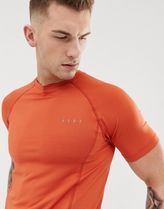 ASOS 4505 muscle training t-shirt with quick dry in rust
