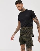 ASOS 4505 running shorts in mid length with snakeskin prin