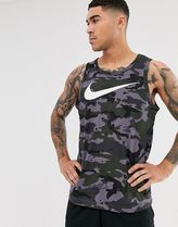 Nike Training Dry camo vest in grey