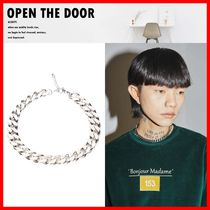 OPEN THE DOOR(オープンザドア) ネックレス・チョーカー ★人気★【OPEN THE DOOR】★Silver Chain Choker Necklace★