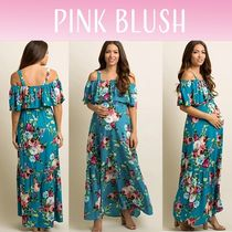 PINKBLUSH(ピンクブラッシュ) ワンピース 【PINK BLUSH】 Ruffle Open Shoulder Maternity Dress