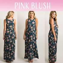 PINKBLUSH(ピンクブラッシュ) ワンピース 【PINK BLUSH】 Teal Floral Sleeveless Maternity Maxi Dress