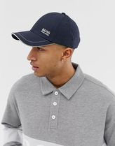 BOSS embroidered logo cap in navy