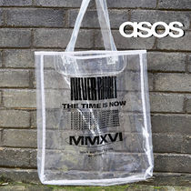 SALE【ASOS】プリント トートバッグ クリア / 送料無料