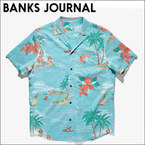 BANKS JOURNAL【到着済】アロハシャツ  VACATION WOVEN SHIRT
