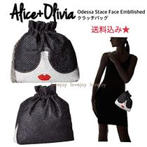 Alice + Olivia☆Odessa Stace Face Embellished クラッチバッグ