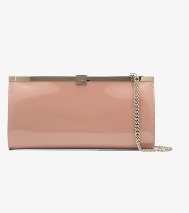 Nude Palmette Patent Leather Clutch (送料・関税込)sale