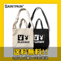 ★SAINTPAIN X PLAYBOY★ OG LOGO CROSS TOTE BAG