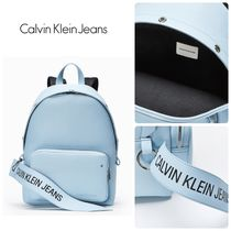 Calvin Klein★ロゴバナーキャンパスバックパック* ICY BLUE
