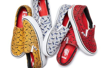 送関込 Supreme Vans Diamond Plate Slip-On 25~30cm
