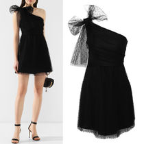 RED VALENTINO(レッドヴァレンティノ) ワンピース RV164 POINT D'ESPRIT TULLE MINI DRESS WITH BOW