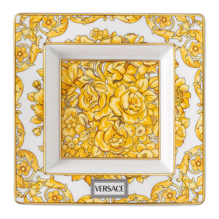 VERSACE 食器(皿) 【ヴェルサーチ】Medusa Rhapsody Border Decorative Dish Small