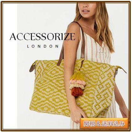 ACCESSORIZE☆FINLEY ウィークエンドバッグ 2WAY タッセル付き♪