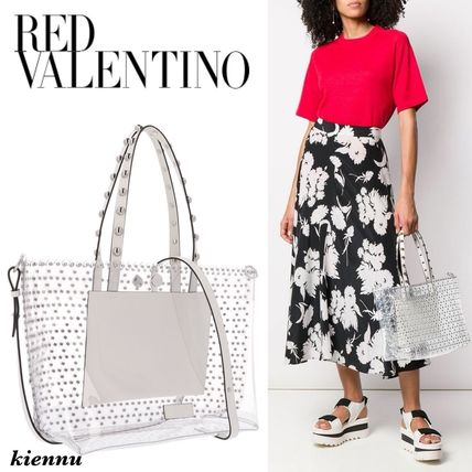 【RED VALENTINO】2WAY スタッズ クリア トートバッグ♪