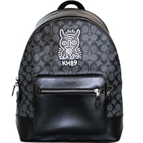 7b52811c62c2 KEITH HARING☆COACH☆WEST TOTE SIGNATURE CANVAS WITH MOTIF