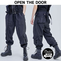 OPEN THE DOOR multi pocket line track pants MU444 / 追跡付