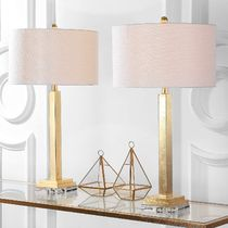 "お得2個セット☆Perri 30"" Crystal Base Gold Table Lamp,"
